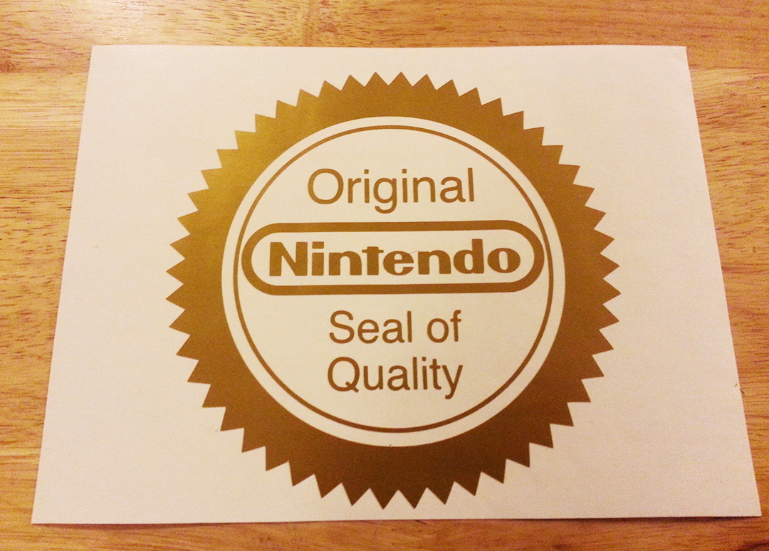 Image result for nes seal of quality